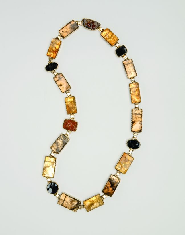 Necklace: Natural Surface Citrine & Smoky Quartz
